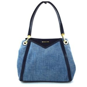 MICHAEL KORS Denim Washed Purse